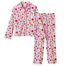 NEW ELF on the SHELF CHRISTMAS HOLIDAY BUTTON Flannel Pajama set Girl size 4 nwt