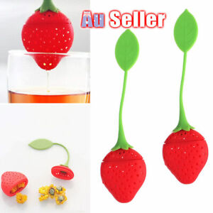 Infuser Diffuser Tea Spice Herbal Silicone Strawberry Leaf Strainer