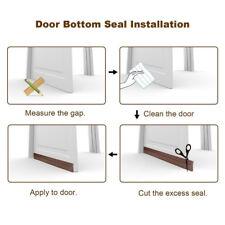 1m/45mm Brown Door Sweep Weather Stripping Door Seal