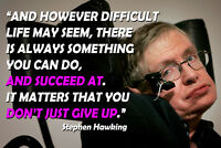 Stephen Hawking Poster Quotes Physics Posters Science Classroom Growth Mindset