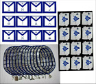 MASONIC BLUE LODGE OFFICER CHAIN COLLAR + JEWELS + APRON + GLOVES LOT OF 12X4