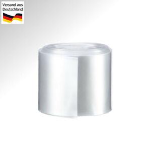 1M Wärme Schrumpf Schlauch Flachmaß 70mm für Akkupack Konfektion PVC Transparent