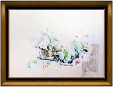 Hobson Pittman Original Pastel Painting Signed Still Life Floral Framed Artwork