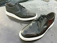 Dr Martens 1461 A Sauvage black white steed leather shoes UK 9 EU 43