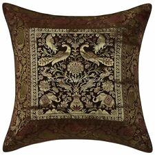 Indian Elephant Brocade Pillow Case Cover Home Decor Silk Cushions Covers Throw