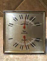 Vintage Taylor Indoor Thermometer Temperature Humidity Humidiguide Desk Tabletop