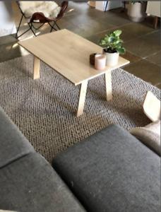 Coffee table, handmade table. Beautiful eco table. Sustainable furniture.