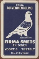 Playing Cards 1 Single Card Old Vintage FIRMA SMETS Advertising Art PIGEON Bird