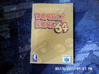 Donkey Kong 64 (Nintendo 64 N-64) Instruction Manual Booklet Only... NO GAME