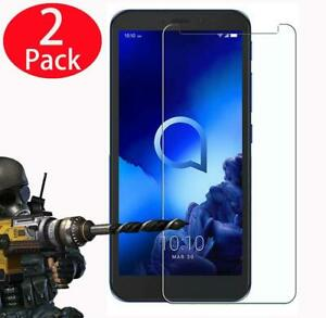 New Genuine Clear Tempered Glass Screen Protector For Alcatel Phones (Pack Of 2)
