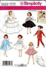 "Doll CLOTHING Patterns REPRO for 10 1/2"" MISS REVLON Miss GINGER"