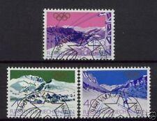 Olympics Used Liechtenstein Stamps