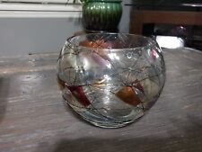 """Retired Partylite Mosaic Votive Tealight Candle Holder Glass Bowl 4"""""""