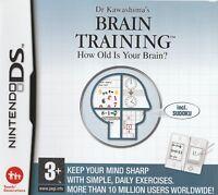 Dr Kawashima's Brain Training DS (Nintendo DS) Free Postage - UK Seller NP
