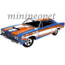 AUTOWORLD AW220 DON GROTHEER 1969 PLYMOUTH ROADRUNNER HARD TOP 1/18 DIECAST BLUE