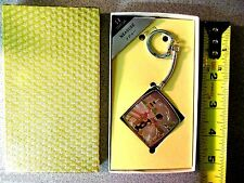 Vintage OMEGA TAPE MEASURE & KEY CHAIN NEW IN BOX NOS  Asian Chinese Deco Woman