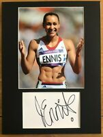 Jessica Ennis Hill   *HAND SIGNED*  16x12 mounted display  ~  Athletics Olympics