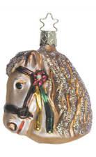 Inge Glas Horse Carousel Pony 1-486-01 German Glass Christmas Ornament
