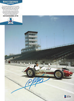 A.J. FOYT INDY 500 CHAMPION DRIVER SIGNED 8x10 PHOTO CAR AJ C BECKETT COA BAS