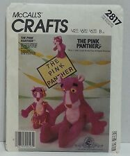Pink Panther Stuffed Doll Toy McCall's Crafts 2817 3 Sizes Complete Uncut