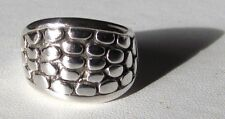 .925 Sterling Silver Cobblestone Band Ring Size 7
