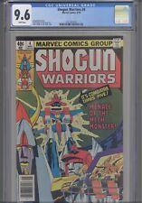 Shogun Warriors #4 CGC 9.6 1979 Marvel Comic: 8 Years  Before Transformers!