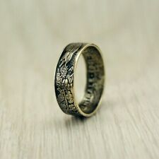 Handmade Unique Vintage Coin Ring Central Africa