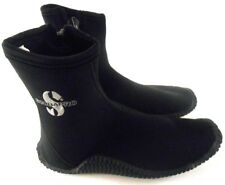 Scubapro 5mm Delta Boots with Zipper Black Right Boot Large Left Boot XLarge