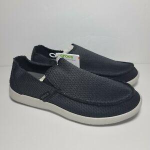 Crocs Santa Cruz Slip-On 205674-001 Black White Comfort Shoes Mens Size 7