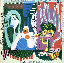 Elvis Costello Impérial Chambre à Coucher Signé Record Pete Thomas Steve Nieve &