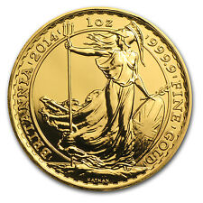 2014 Great Britain 1 oz Gold Britannia BU (Horse Privy) - SKU #84843