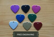 FREE ENGRAVING (PERSONALIZED) Aluminum Heart Pet Collar Tag Charm