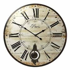 Reloj De Pared 58cm Extra Grande Vintage De Péndulo Francés Shabby Chic Francés