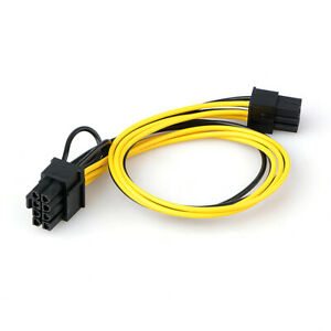 PCI-E 6-pin to 2x 6+2-pin (6-pin/8-pin) Power Splitter Cable PCIE PCI Express AU