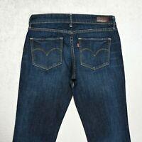 Womens LEVIS Demi Curve Jeans Size W26 L32 Slim fit Straight Denim Stretch Dark