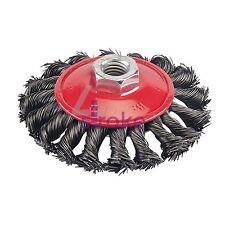 Steel twist-noeud brosse 100mm abrasif meule peinture rouille élimination diy