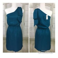 Women's Banana Republic Blue Formal Party Dress Size 2 One Shoulder