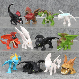 How To Train Your Dragon 12 PCS Cartoon Action Figure Kids Toy Gift Cake Topper