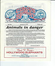 MB-062 - The Circus Report, Animals in Danger, December 12, 1977 Issue Vintage