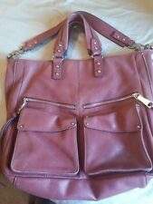 Aimee Kestenberg Leather 2way Sachel Tote Burgundy Red Handbag