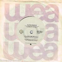 "ALICE COOPER - CLONES (WE'RE ALL) - 7"" 45 VINYL RECORD - 1980"