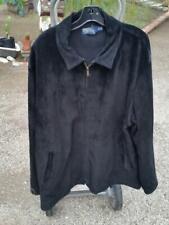 RALPH LAUREN POLO XXL 2XL Black Suede Newsboy Jacket Side Buckles