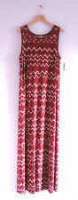 Old Navy Maternity Maxi Dress Small NWT Sleeveless Zigzag Print