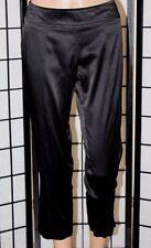 KOJI YOHJI Women's Size 3 Black Shiny Dress Pants/Slacks Pull On Rear Zip EUC