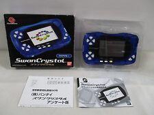 WS -- Swan Crystal Console Clear Blue -- Box. WonderSwan, JAPAN Bandai. 38129