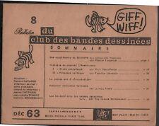 GIFF-WIFF n°8. L'Aventureux / Robinson / ...Revue d'études sur la BD - 1963