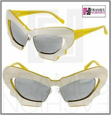 b30c73399a3 Linda Farrow Prabal Gurung Sculptural Mask Ochre Silver Mirrored Pg1  Sunglasses