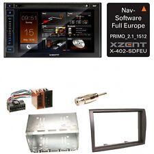 XZENT X-402 Bluetooth DAB+ Navigation USB CD Einbauset für Fiat Ducato Boxer Jum