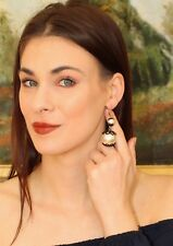Kate Spade Japanese Pearl Earrings Black Lace Florence Broadhurst Collection