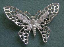 "Sarah Coventry ""MADAME BUTTERFLY"" Silver Tone Pin - Sara Cov Jewelry - Vtg"
